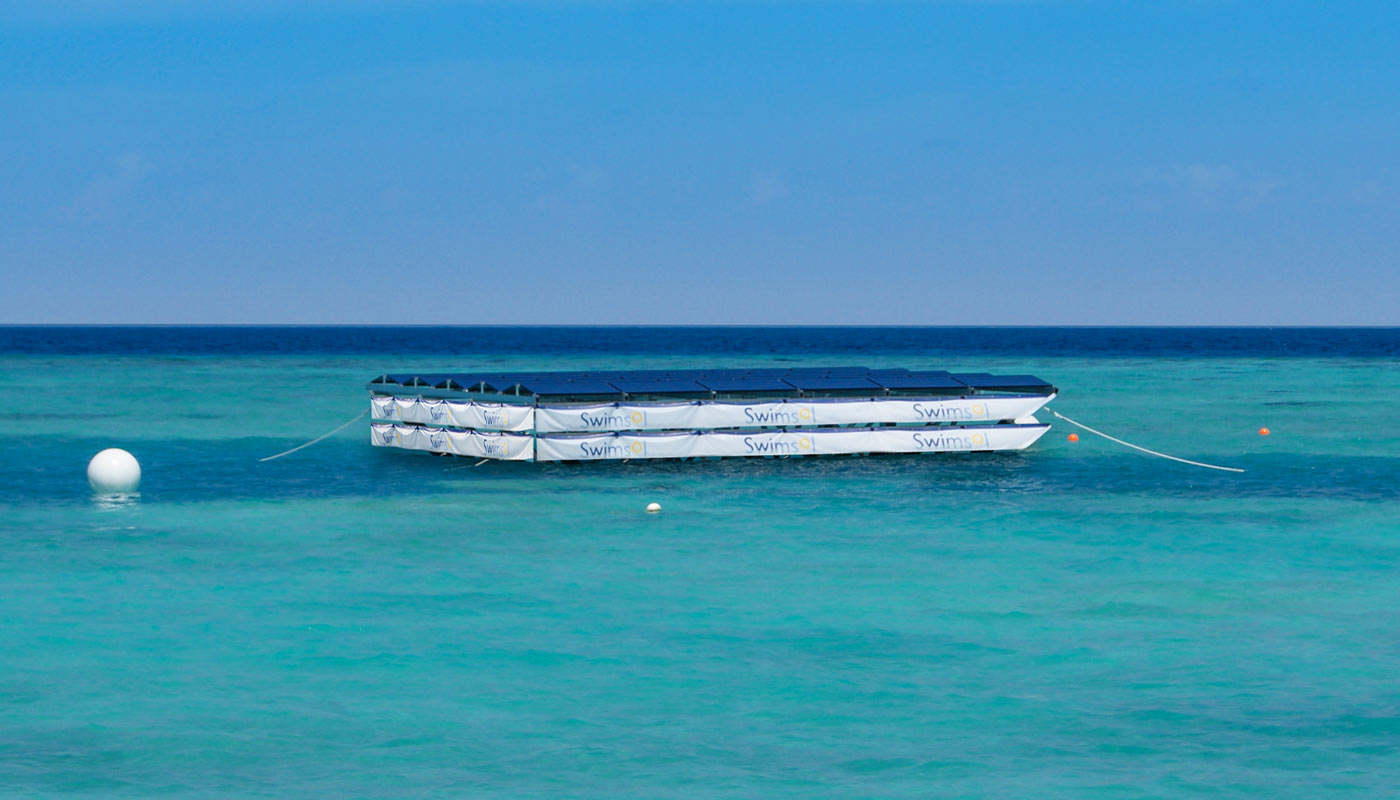 SolarSea - world's first floating solar power plant for the sea by Swimsol