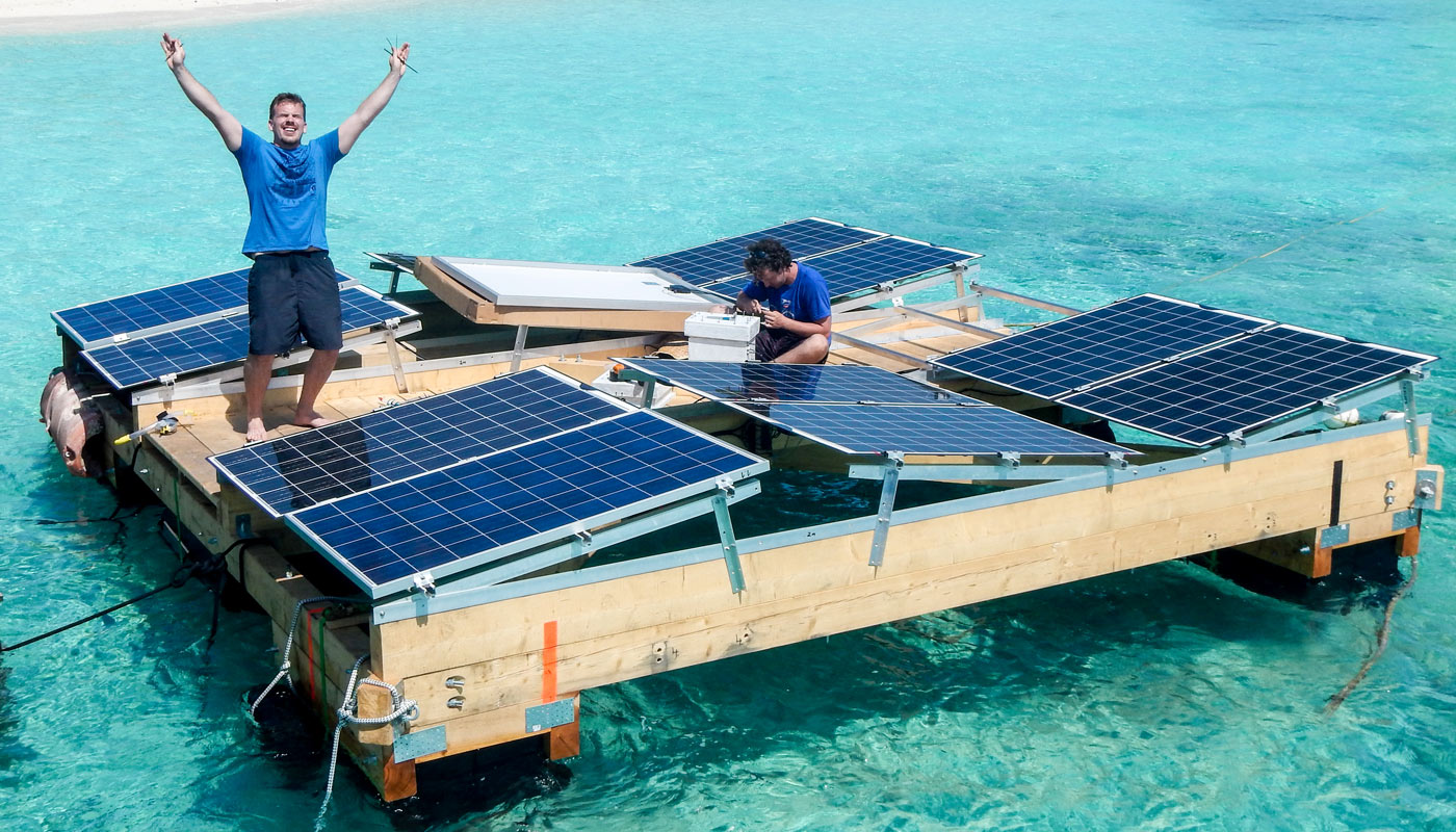 Research on floating solar power by Swimsol
